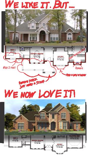 Custom Home Plans, Custom Home Designs, Stock plans, Taylored Home Plans
